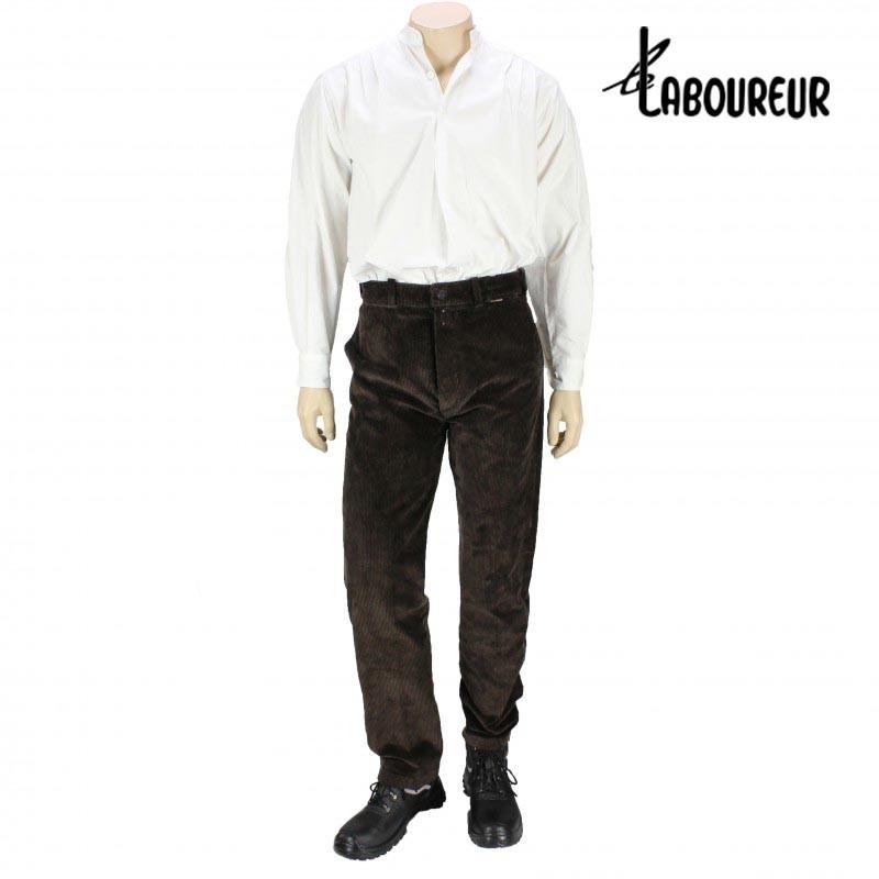 pantalon largeot velours taille basse laboureur