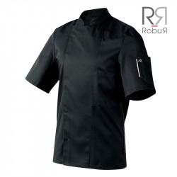 Veste de cuisine robur nero noir