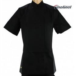 Veste cuisine noir pour femme MC