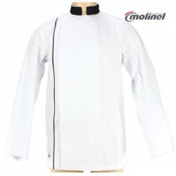 Veste de cuisine pour homme blanc et noir