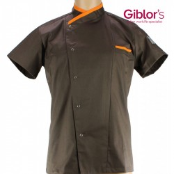 "Veste de cuisine ""chef style"" taupe"