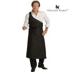 Tablier boucher parisien noir
