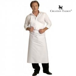 tablier boucher blanc