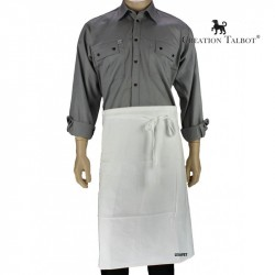Tablier de cuisine en coton bachette