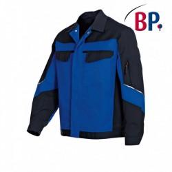veste de travail bleu et noir