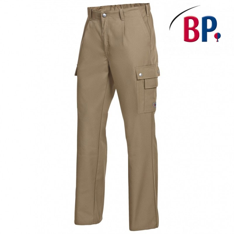 pantalon de travail beige mulipoches pas cher