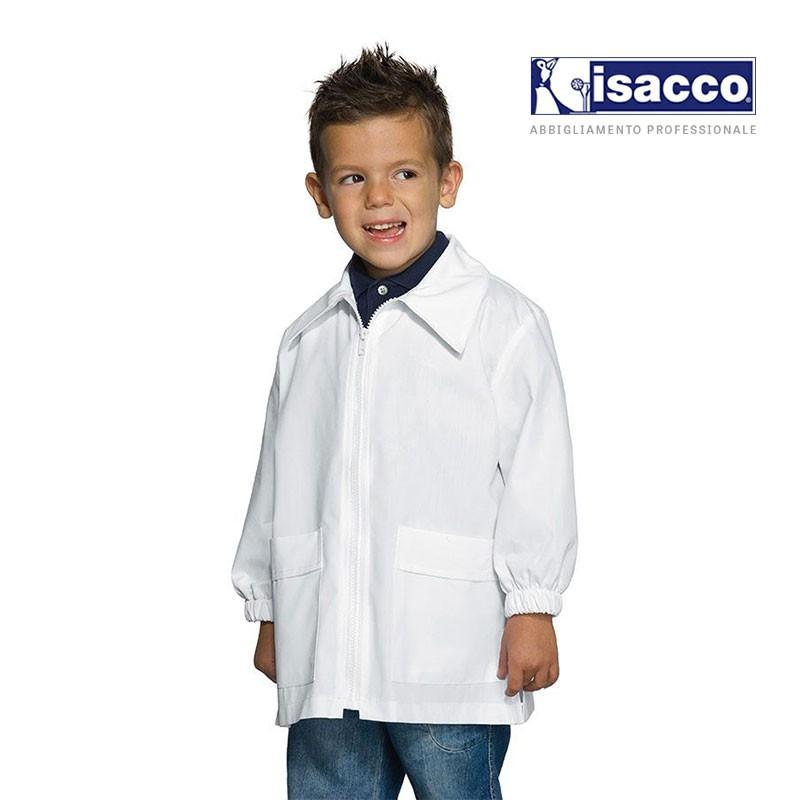 Blouse blanche garçon pour l'école maternelle