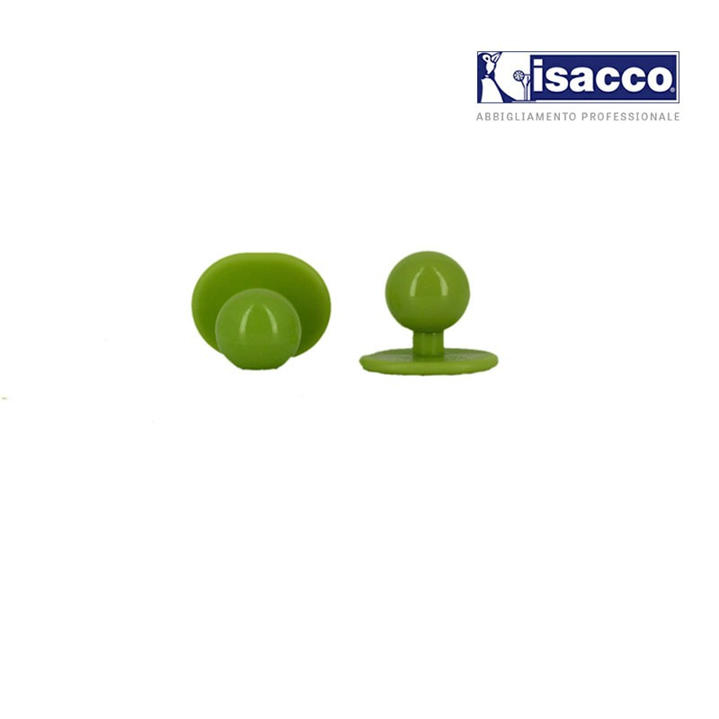Boutons boules vert anis