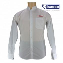 Chemise de service blanche col mao