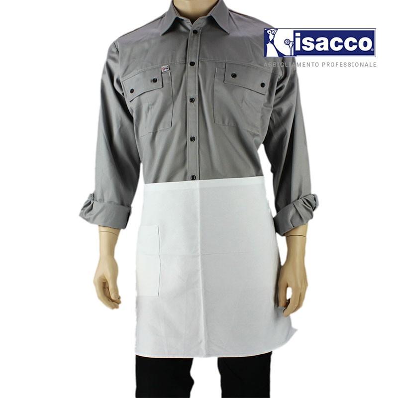 Tablier de cuisine avec une poche blanc
