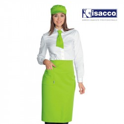 TABLIER DE SERVICE LONG 100% POLYESTER EN COULEUR