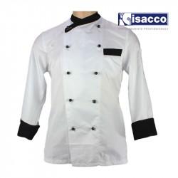 Veste blanche de boulanger ultra légère