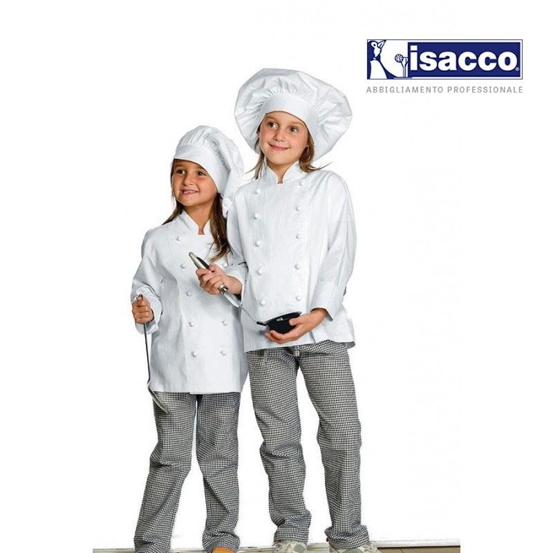 Veste de cuisine enfant pour fille et garçon