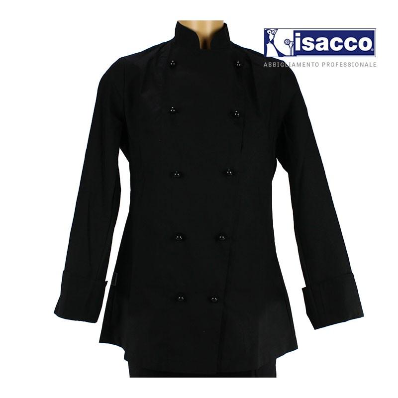 veste de cuisine noire femme