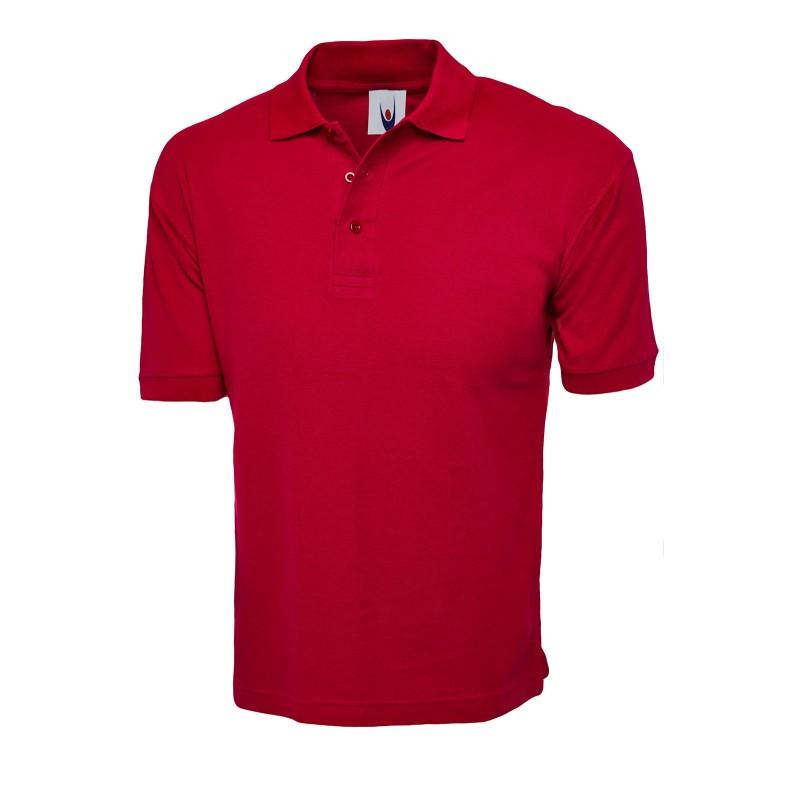 Polo de travail rouge en coton pas cher