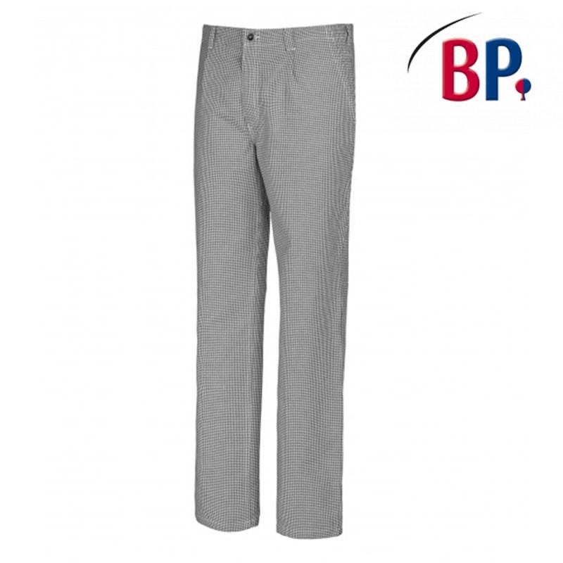 Pantalon de cuisine pied de poule bleu et blanc