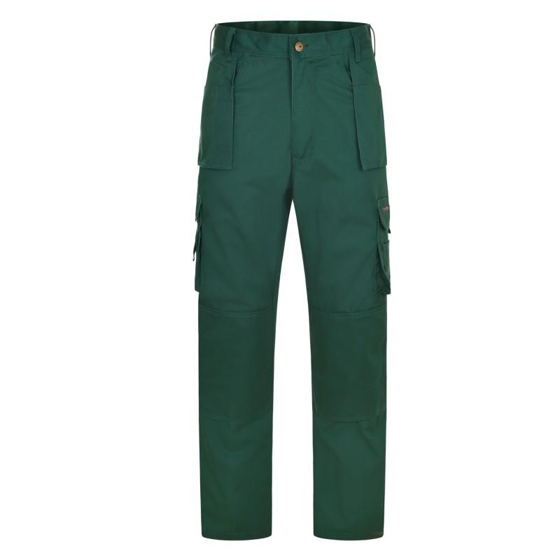 Pantalon de travail vert avec genouillere pour homme