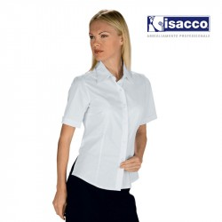 CHEMISE DE SERVICE BLANCHE FEMME MANCHES COURTES KYOTO BLANCHE ISACCO 025310