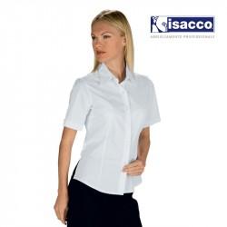 CHEMISE DE SERVICE BLANCHE FEMME MANCHES COURTES KYOTO BLANCHE ISACCO 025310