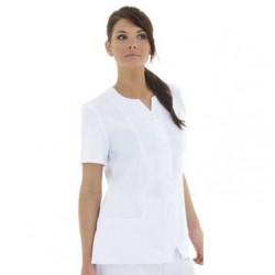Tunique médical femme manches courtes coupe ajustée