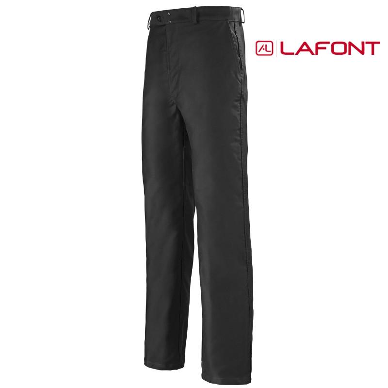Pantalon de travail lafont en moleskine noir