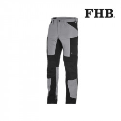 pantalon de travail leo fhb gris et noir
