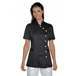 blouse esthéticienne noir personnalisé