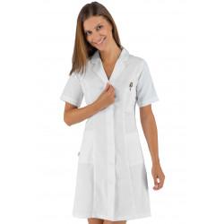 Blouse médicale blanche 100% coton ISACCO