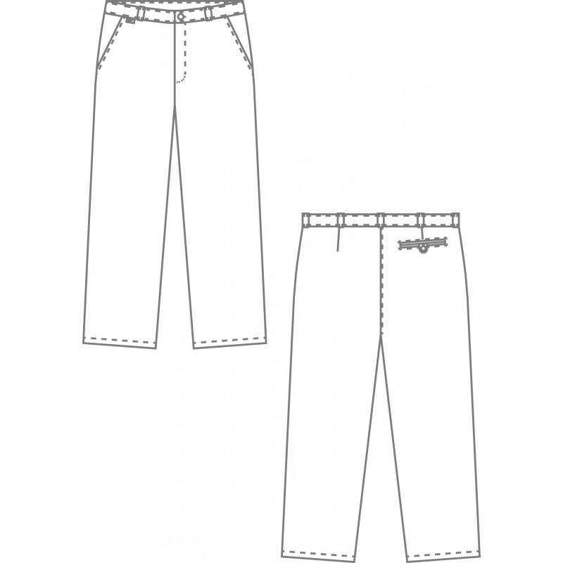 pantalon cuisine noir ou blanc pour homme lisavet