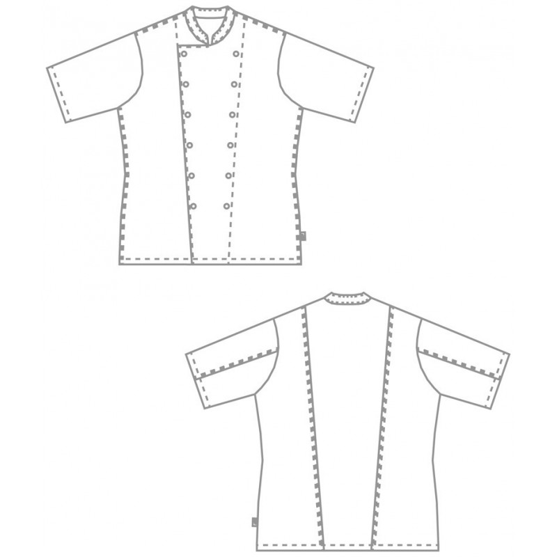 veste de cuisine blanche manches courtes homme lisavet. Black Bedroom Furniture Sets. Home Design Ideas