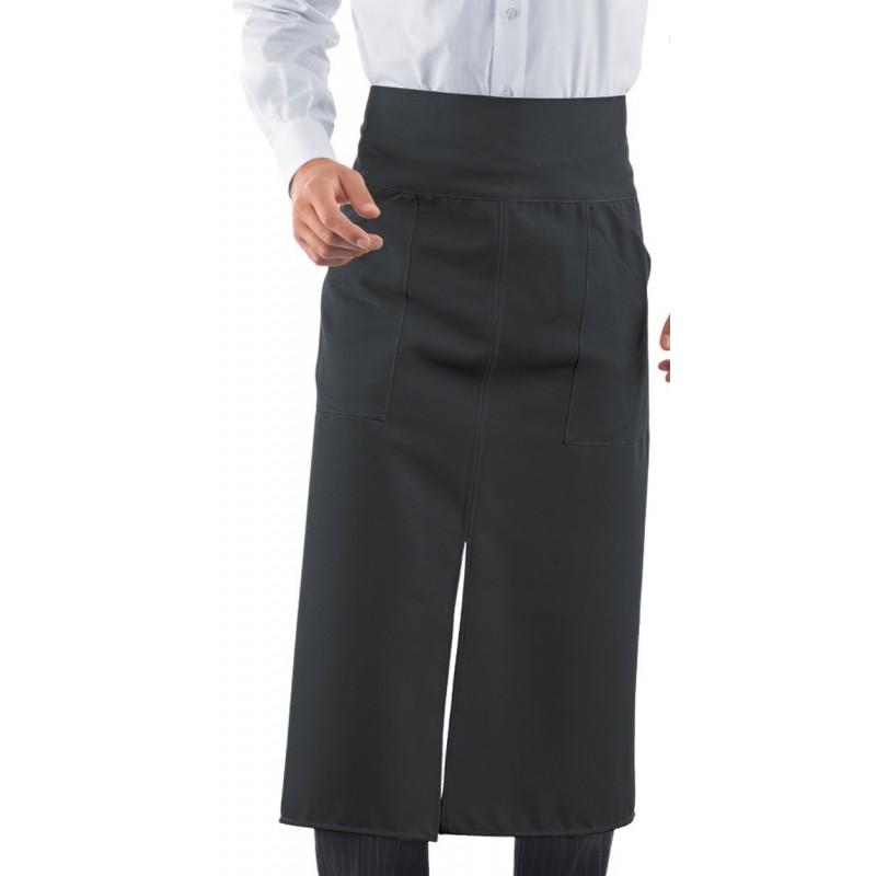 Tablier de serveur long gris anthracite qualit pas cher lisavet - Tablier de cuisine professionnel pas cher ...