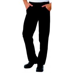 Pantalon de cuisine noir unisexe
