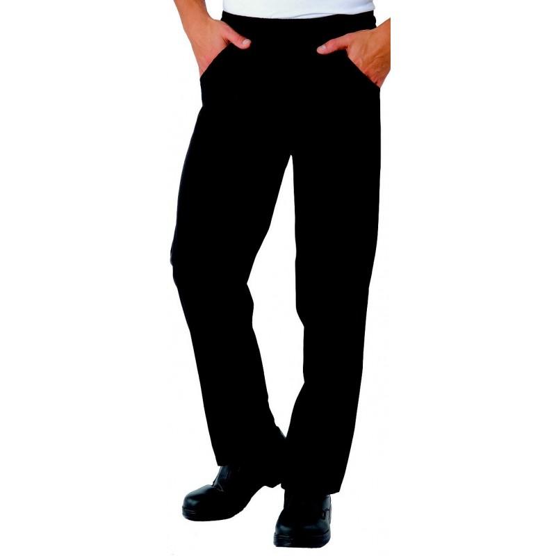 Pantalon de cuisine noir pour homme et femme lisavet for Pantalon cuisine noir