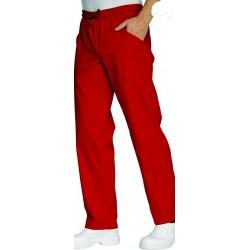 Pantalon de cuisine rouge