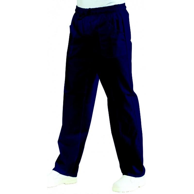 pantalon de cuisine bleu marine unisexe lisavet. Black Bedroom Furniture Sets. Home Design Ideas