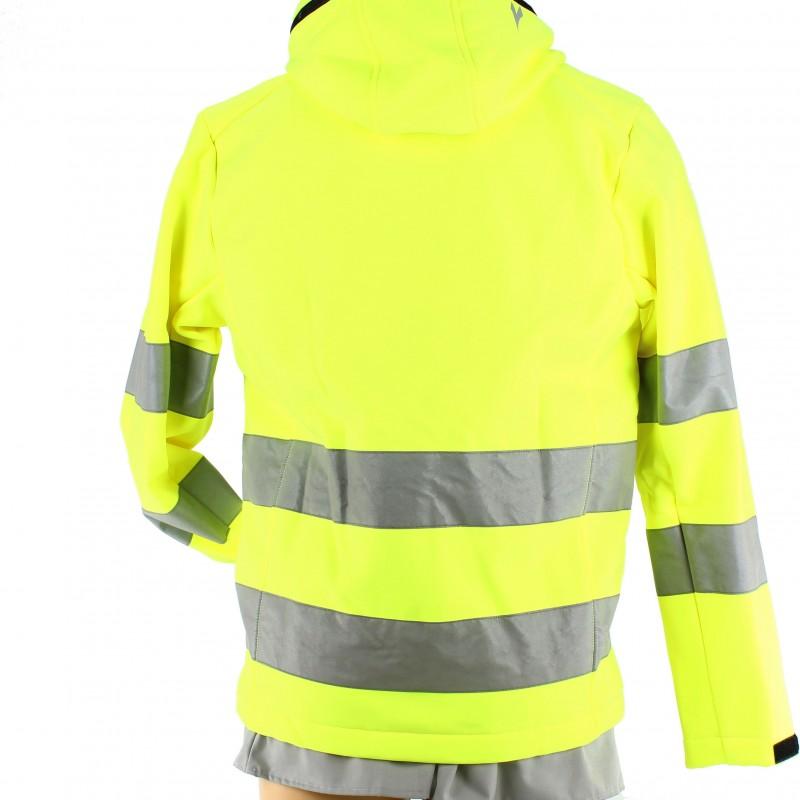 veste haute visibilit softshell jaune fluorescent pour. Black Bedroom Furniture Sets. Home Design Ideas