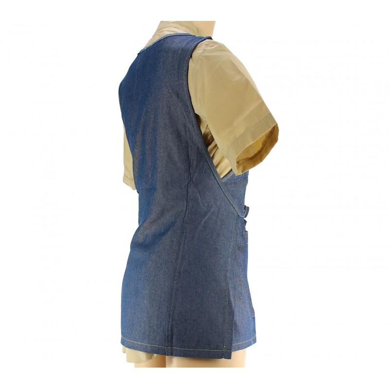 tablier de service en coton pour femme coloris jeans. Black Bedroom Furniture Sets. Home Design Ideas