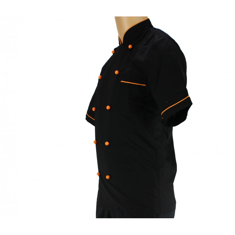 Veste de cuisine noir homme choses l gantes la mode 2018 for Veste de cuisine brodee