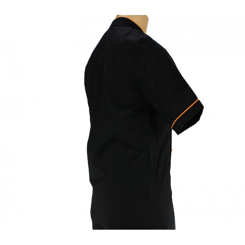 Vêtement de cuisine noir avec un liseré couleur - LISAVET