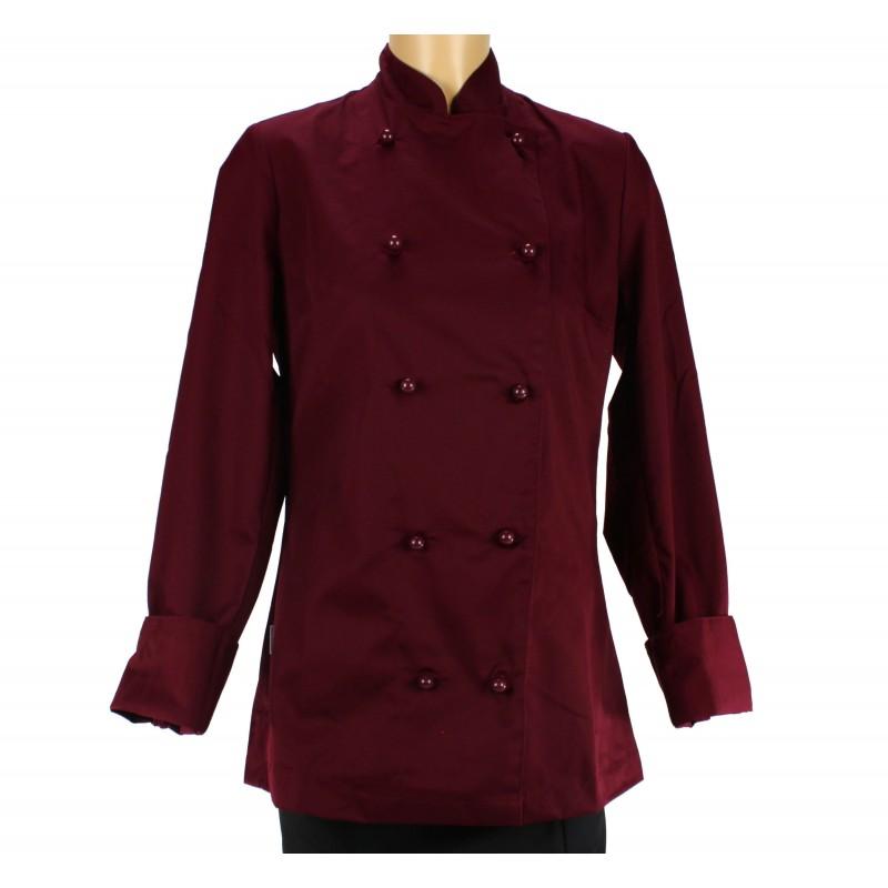 8517a72262de6 Veste de boulanger patissier pour femme, bordeaux – LISAVET