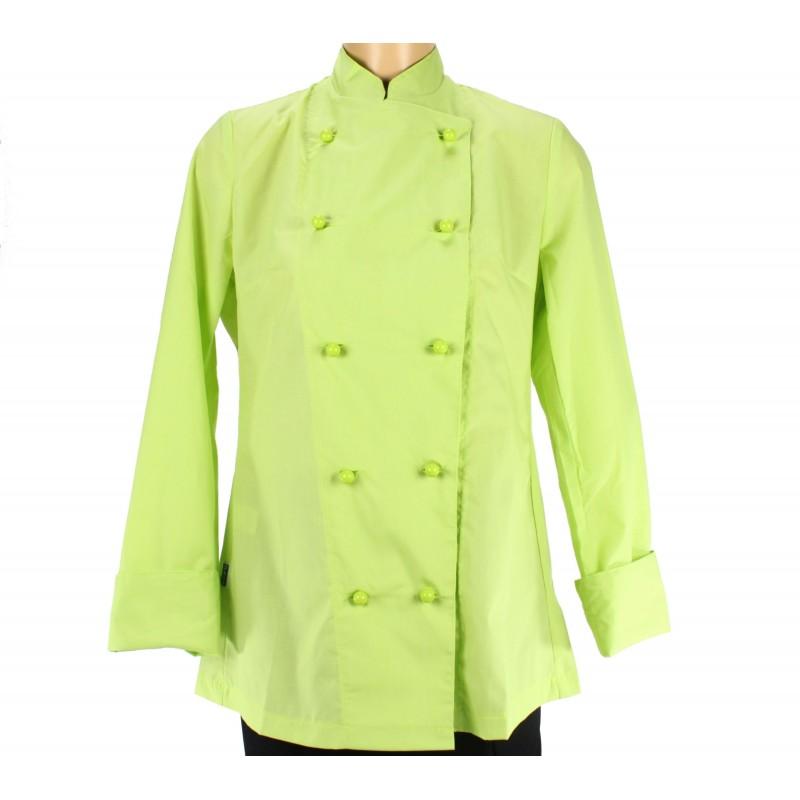 vetement cuisinier pour femme  couleur verte  u2013 lisavet