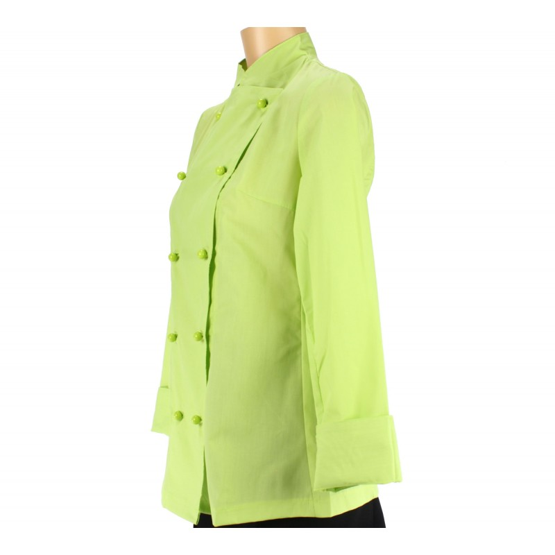 Vetement cuisinier pour femme couleur verte lisavet for Vetement de travail cuisine