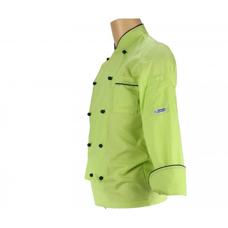 V tement de cuisine vert anis et bleu pour homme lisavet for Cuisine bleu et vert