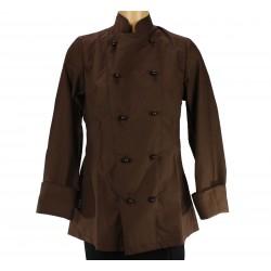 Veste pâtissier-chocolatier femme, marron