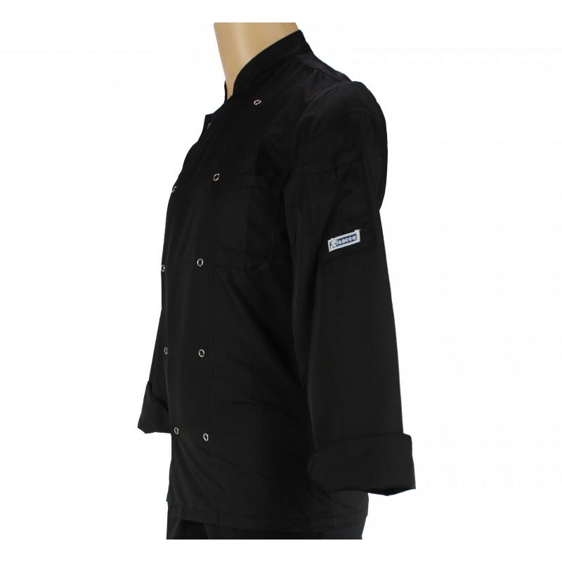 veste de cuisine noire ultra l g re pour homme lisavet. Black Bedroom Furniture Sets. Home Design Ideas
