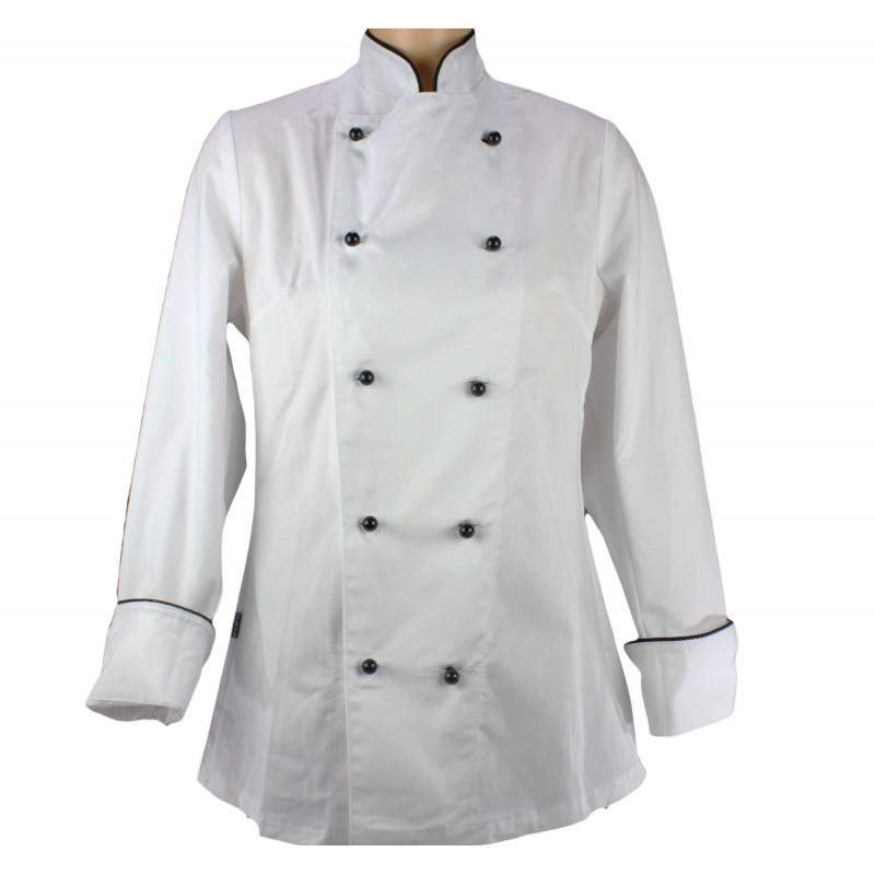 Vetement de cuisine pour femme grand chef lisavet for Vetement de travail cuisine