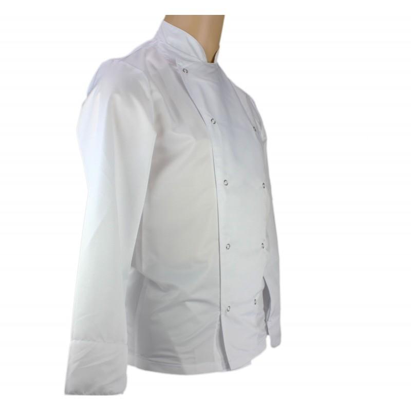 Veste de cuisine blanche ultra l g re pour homme lisavet - Veste de cuisine homme brode ...