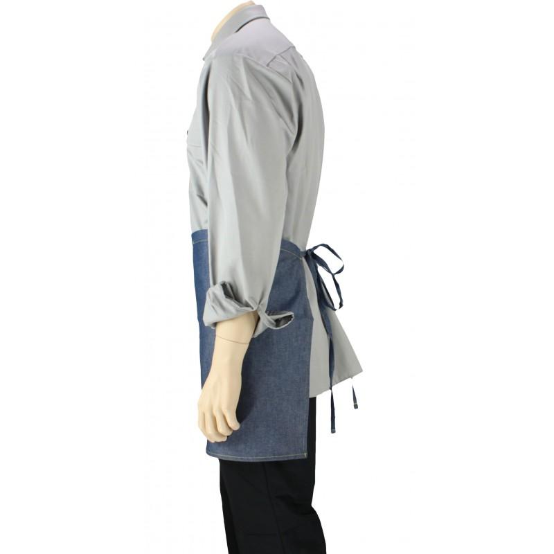 Tablier de cuisine la taille jean avec une poche lisavet for Tablier cuisine