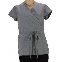 Kimono gris pour esthéticienne