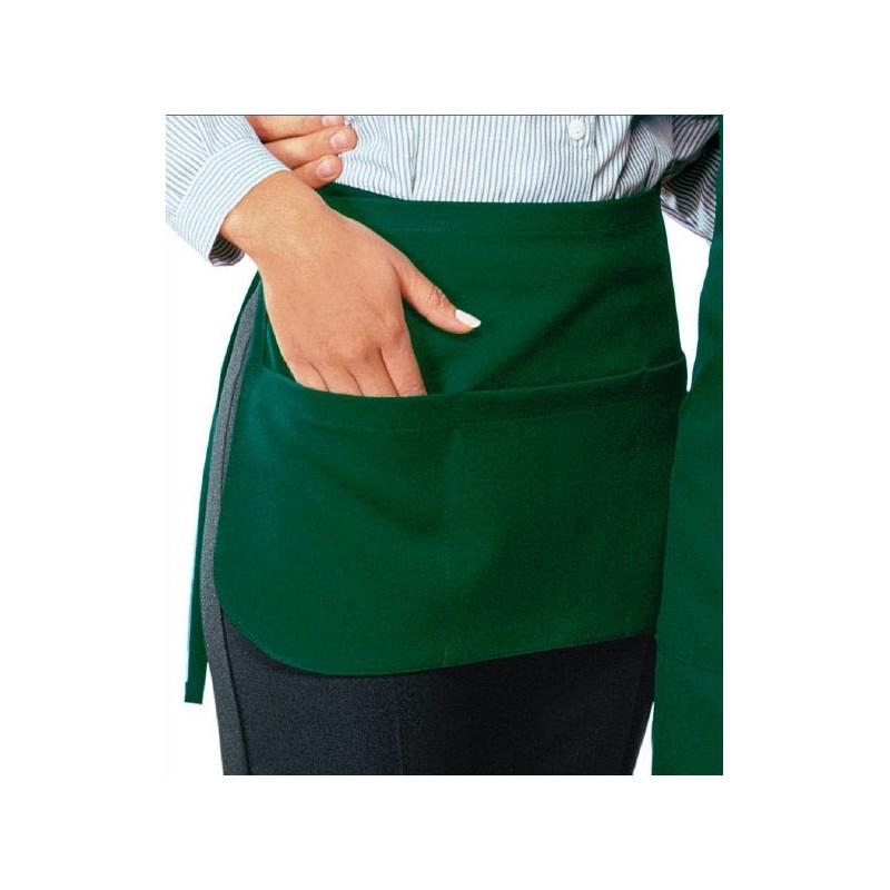 tablier de service bistrot vert pas cher avec poches lisavet. Black Bedroom Furniture Sets. Home Design Ideas